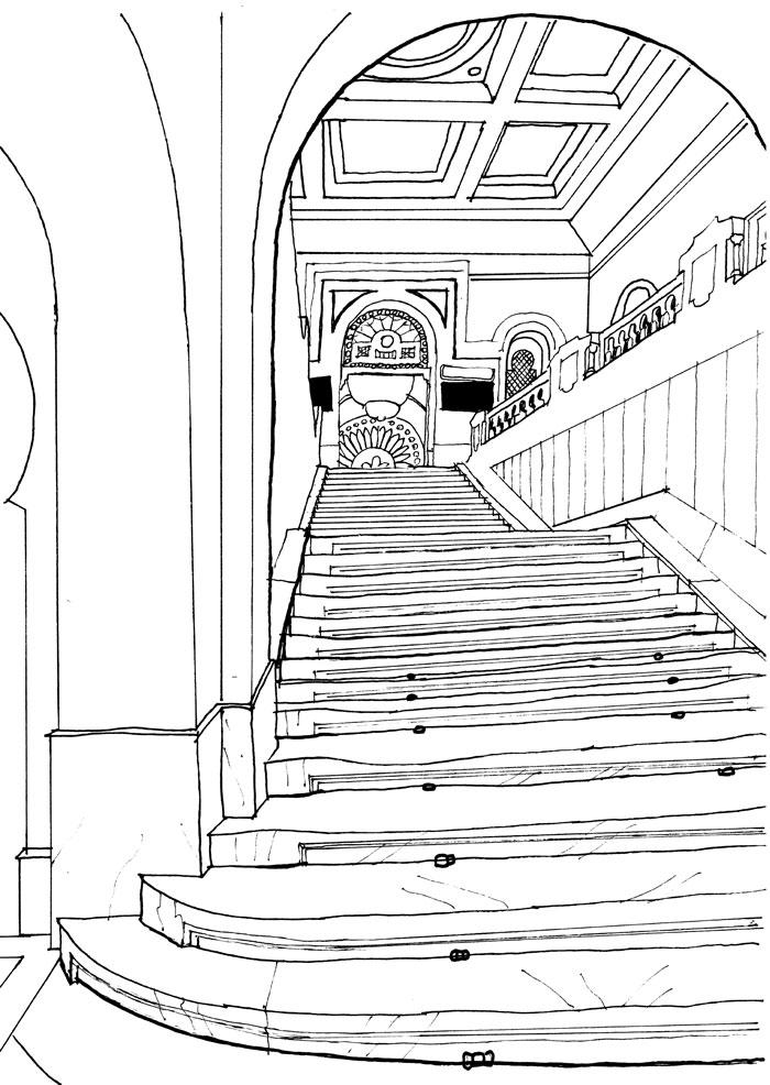 antiterroriste escaliers