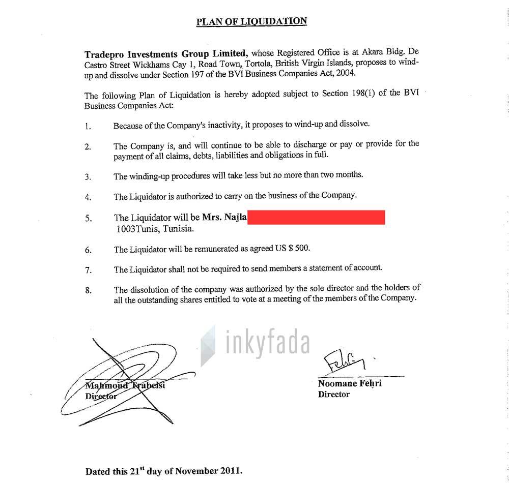 panamapapers-nooman-fehri-tradepro-information-system-minutes-directeurs-tradepro-liquidation-inkyfada